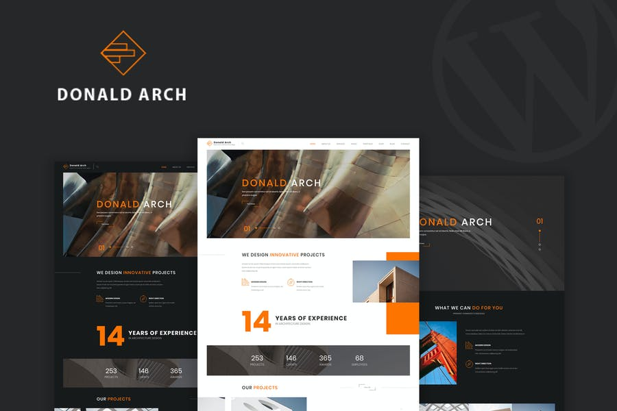 Donald Arch - Creative Architecture WordPress Them