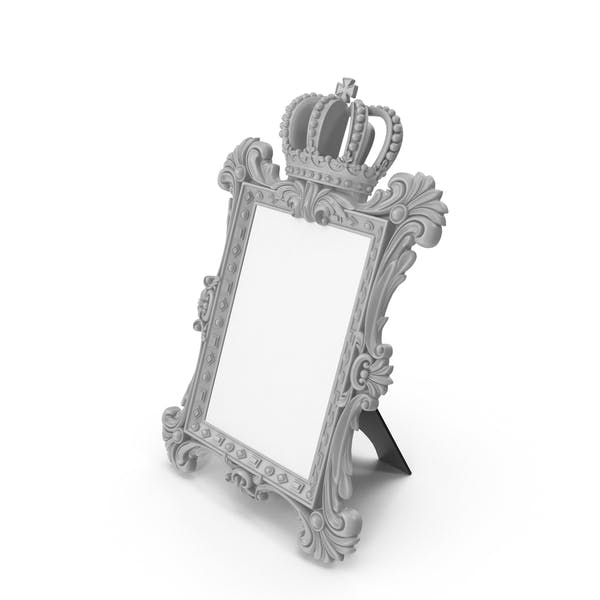 Thumbnail for Baroque Photo Frame Grey