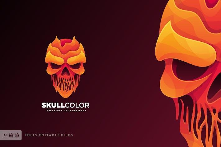 Skull Head Liquid Logo Template