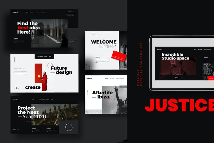 Thumbnail for JUSTICE - Google Slide Creative Business Marketing