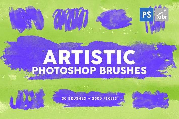 Thumbnail for 30 Artistic Photoshop Stamp Brushes Vol.1