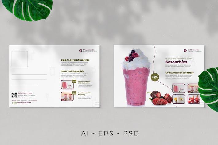 Smoothie-Postkarten-Design
