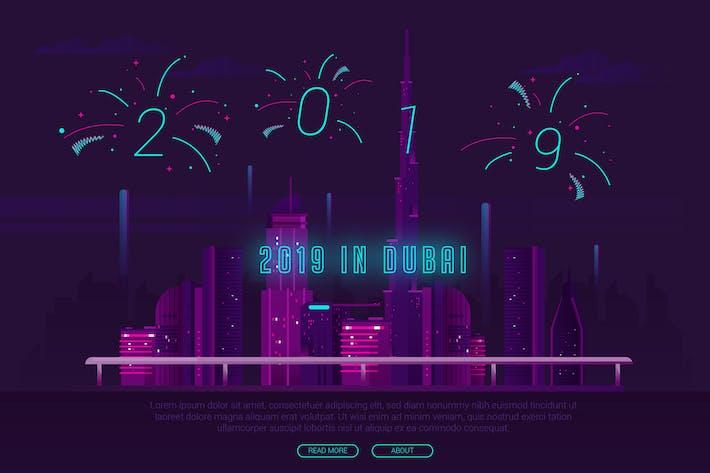 Thumbnail for 2019 in Dubai - Vector Landscape & Building