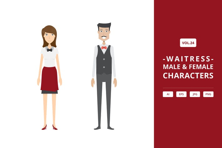 Thumbnail for Waitress - Male & Female Characters Vol.24