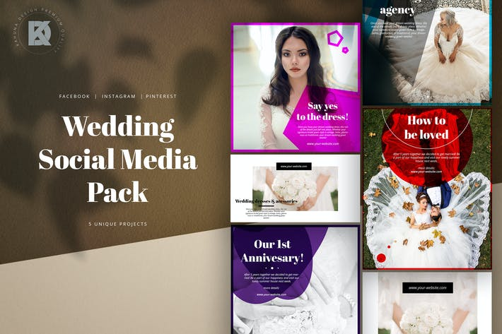 Thumbnail for Wedding Social Media Kit