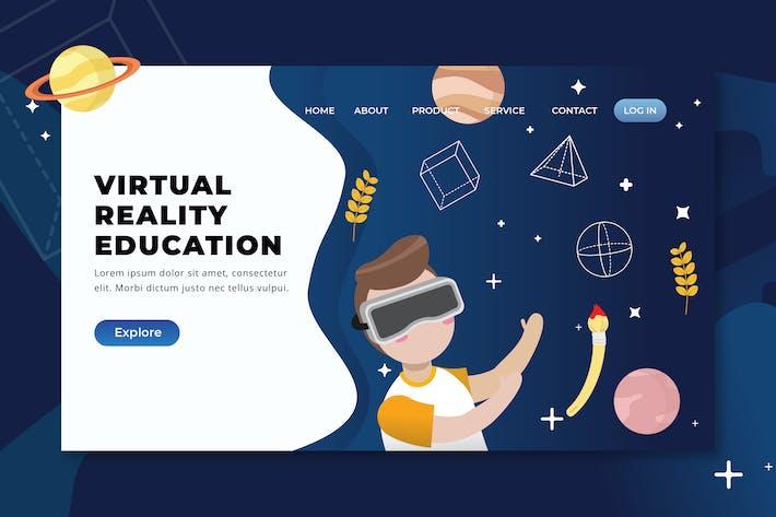 Virtual Reality Education - XD PSD AI Landing Page