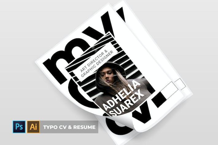 Thumbnail for Typo | CV & Resume