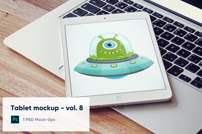 Thumbnail for Tablet on Laptop Keyboard - Vol. 8
