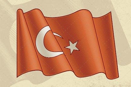Vintage Flag Of Turkey