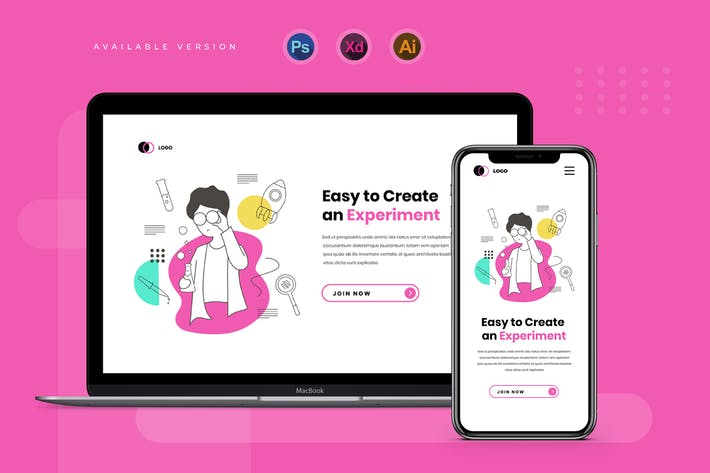 Experiment Labs - Banner & Landing Page