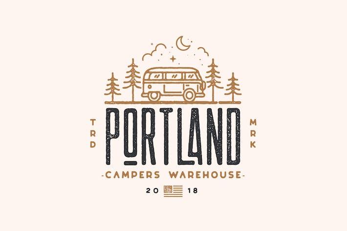 Thumbnail for Portland Campers, Van, Traveler, adventure Logo