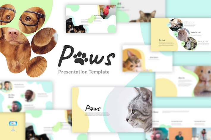 Thumbnail for Paws - Animal, Pet Keynote Template