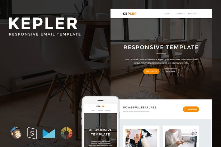 Thumbnail for Kepler - Responsive Email + StampReady Builder
