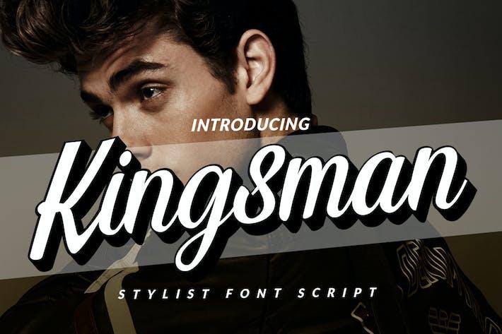 Thumbnail for Extrude Kingsman Branding Logotype Script