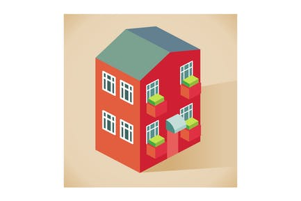 front side Apartment vector