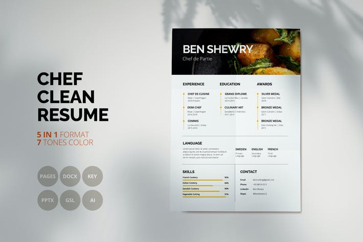 Thumbnail for Ben Shewry - Clean Chef CV