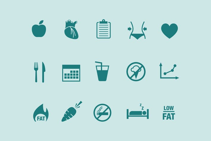 Thumbnail for 15 Diet Icons
