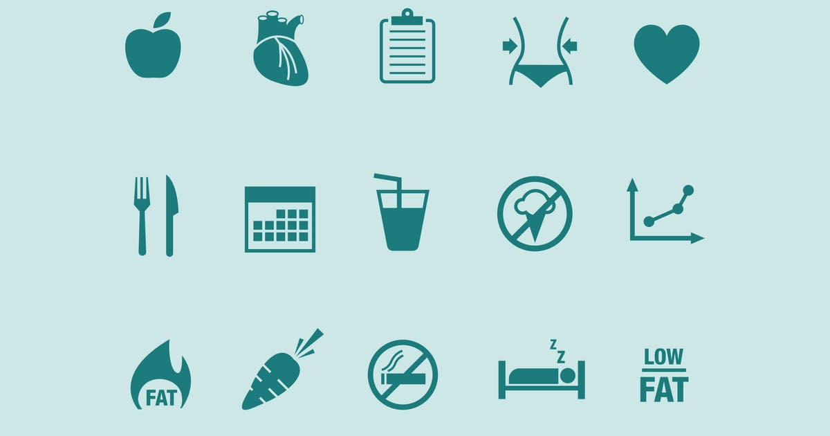 Download 15 Diet Icons by creativevip