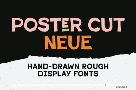 Familia de fuentes Poster Cut Neue