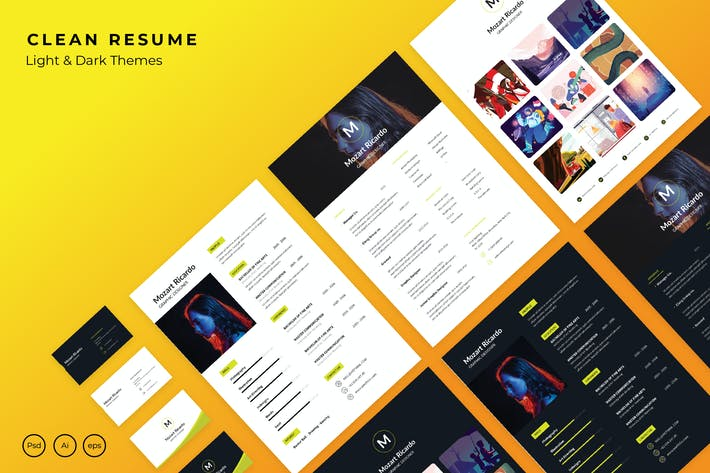 Thumbnail for Simple Resume + Bussiness Card