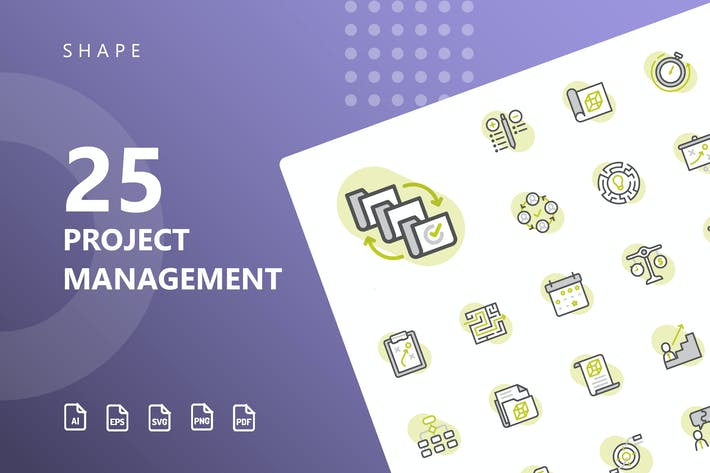 Thumbnail for Project Management Shape Icons