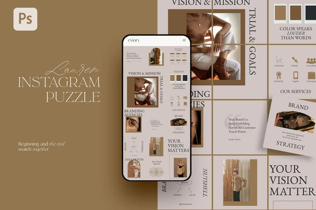 Lauren - Instagram Puzzle Templates