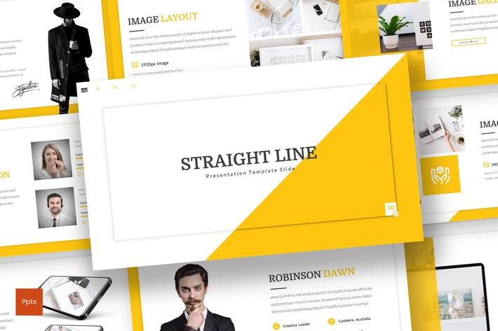 Thumbnail for Straight Line - Creative Powerpoint Template