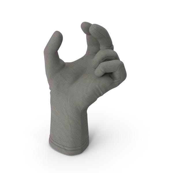 Glove Upwards Object Hold Pose