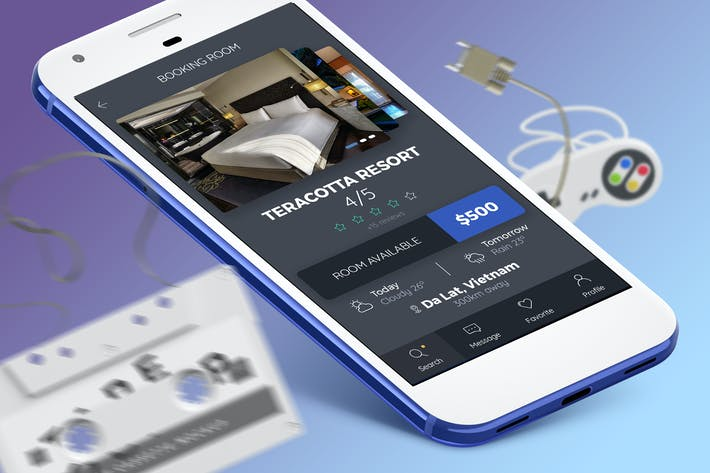 Thumbnail for Booking Room Mobile Ui - H