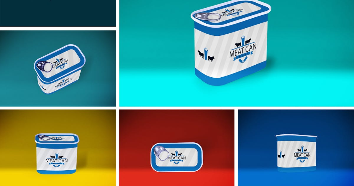 Download Meat Can MockUp by QalebStudio