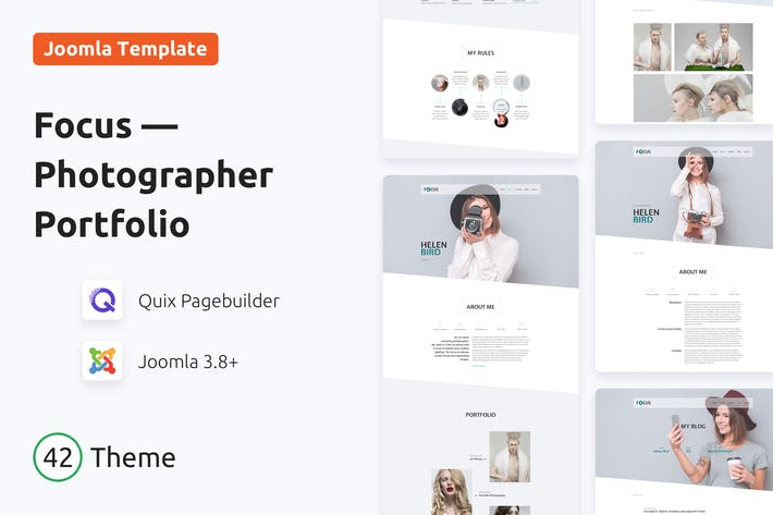 Thumbnail for Focus — Photographer portfolio Responsive Template