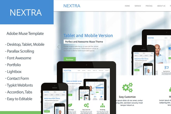 Thumbnail for Nextra - Multi-Purpose Muse Template