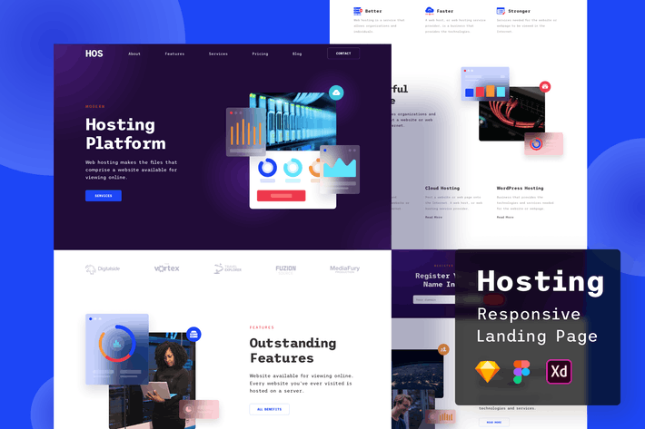 Thumbnail for Hosting Responsive Landing Page