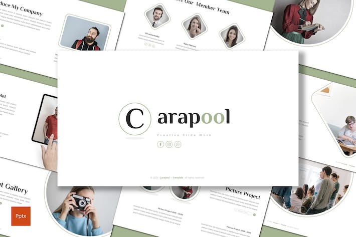 Thumbnail for Carapool - Minimalist Powerpoint Template