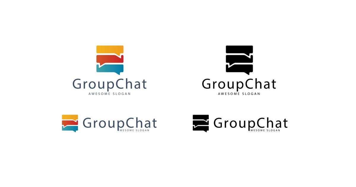 Download Group Chat Logo Template by 1protheme