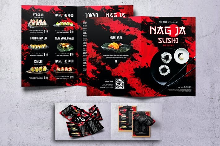 Thumbnail for Нагоя Суши Японская еда Меню Комплект