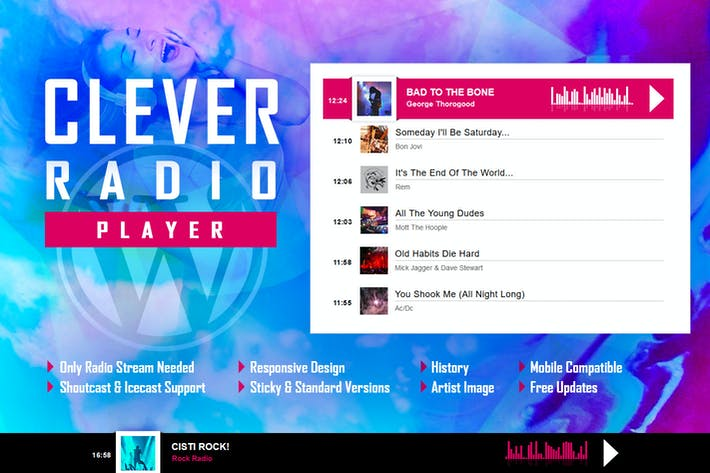Thumbnail for CLEVER - HTML5 Radio Player mit History WP Plugin
