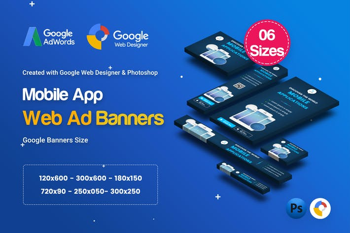 Thumbnail for C21 - Mobile App Banners HTML5 Ad - GWD & PSD