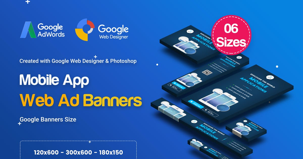 Download C21 - Mobile App Banners HTML5 Ad - GWD & PSD by iDoodle