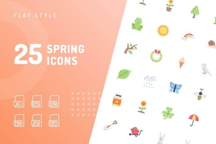 Spring Flat Icons