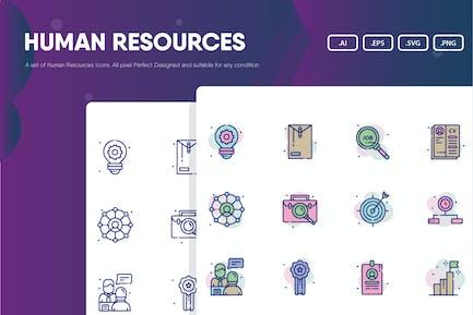 Paquete de iconos de Recursos Humanos