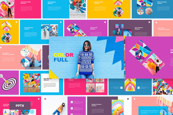 Thumbnail for Colorful - Powerpoint Template