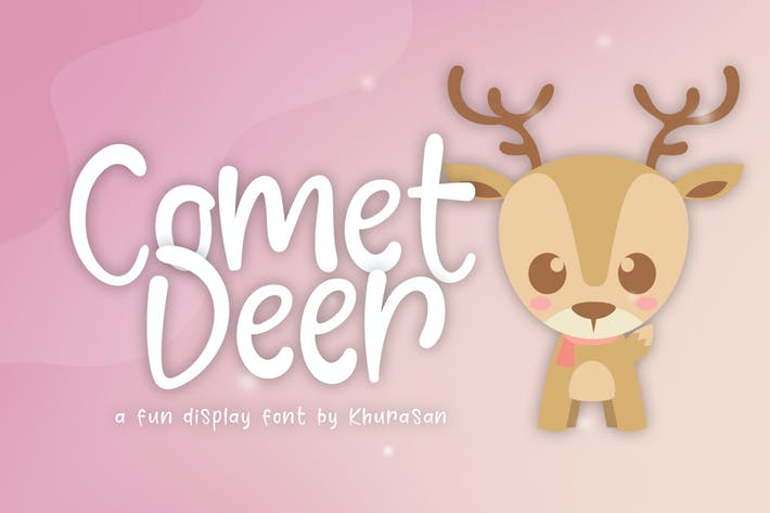 Thumbnail for Comet Deer Font