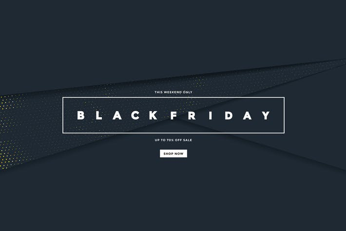 Thumbnail for Black Friday banner with golden halftone texture