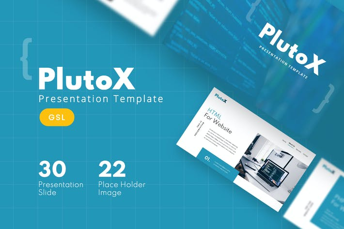 Thumbnail for PlutoX - Веб-Google Слайды Шаблон