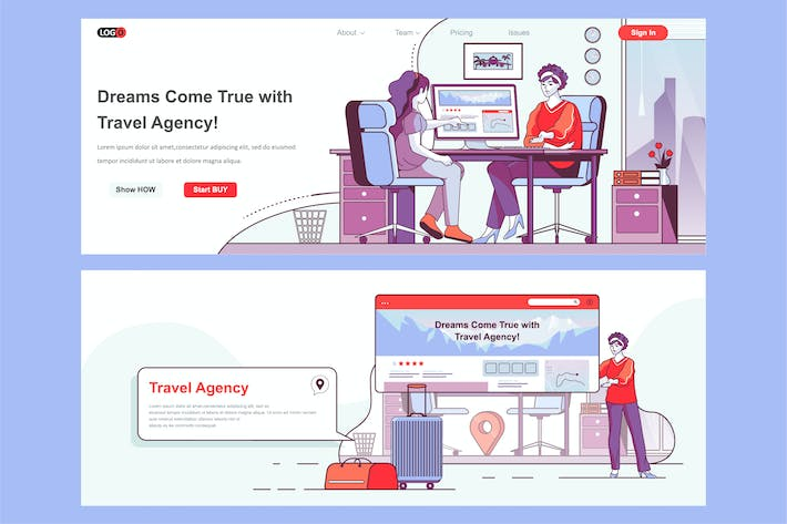 Thumbnail for Travel Agency Header Footer or Middle Content