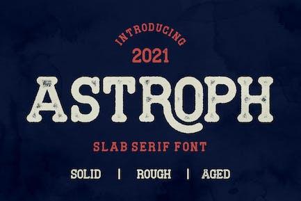 Astroph - Ретро плита с засечками