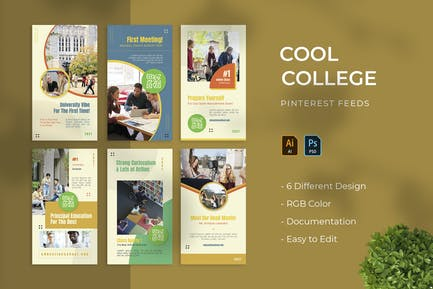 Cool College | Pinterest Post Template