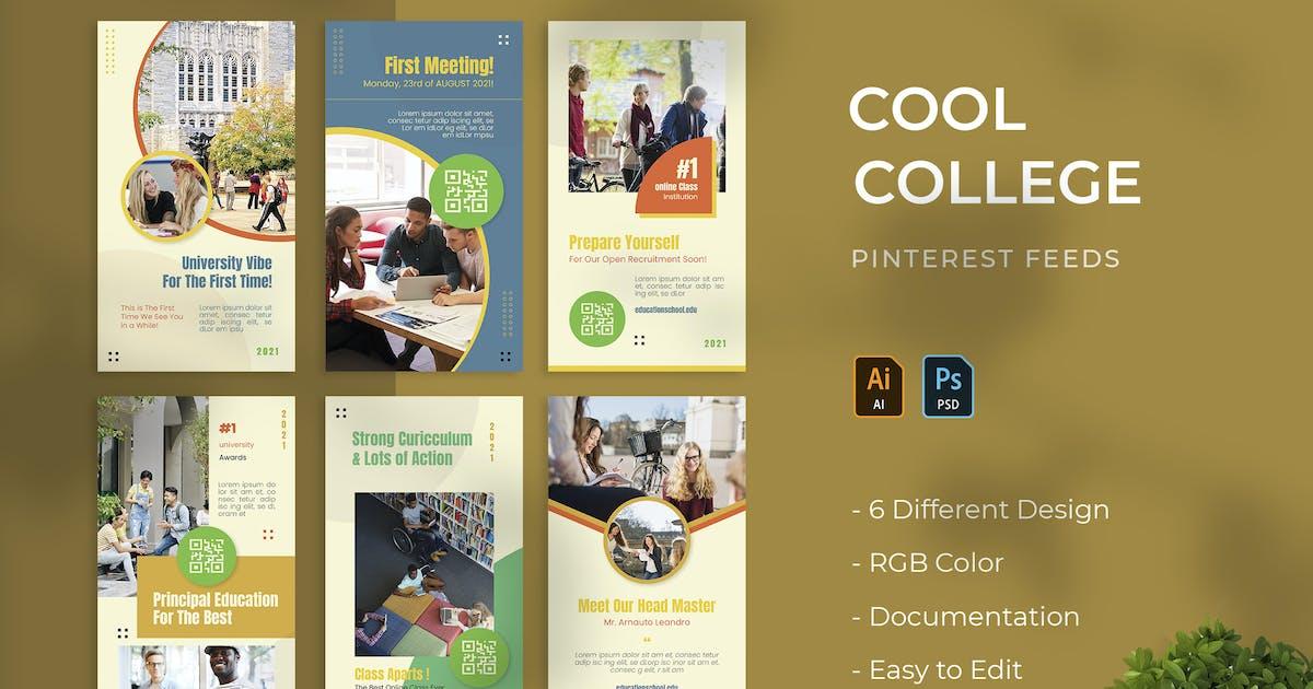 Download Cool College | Pinterest Post Template by Vunira