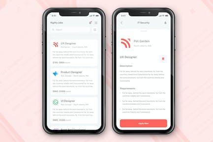 Job Seeker App Concept